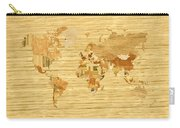 Wooden World Map 2 Carry-all Pouch