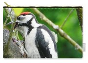Woodpecker Swallowing A Cherry  Carry-all Pouch