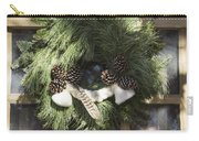 Wool And Feather Wreath Carry-all Pouch
