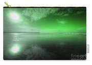 Woolacombe Beach In Green  Carry-all Pouch
