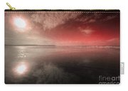 Woolacombe Beach In Red  Carry-all Pouch