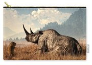 Woolly Rhino And A Marmot Carry-all Pouch
