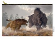 Woolly Rhino And Cave Lion Carry-all Pouch