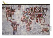 World Map Typography Artwork Carry-all Pouch