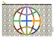 World Globe Earth Travel Graphic Digital Colorful Pattern Signature Art  Navinjoshi Artist Created I Carry-all Pouch