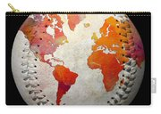 World Map - Rainbow Passion Baseball Square Carry-all Pouch by Andee Design