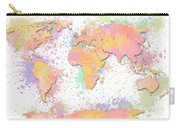 World Map 2 Digital Watercolor Painting Carry-all Pouch
