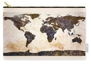 World Map Abstract Carry-all Pouch by Bob Orsillo