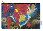 World Map And Barack Obama Stars Carry-all Pouch