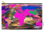 World Map And Human Life Carry-all Pouch