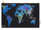 World Map And Sagittarius Constellation Carry-all Pouch