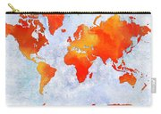 World Map - Citrus Passion - Abstract - Digital Painting 2 Carry-all Pouch