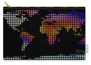 World Map Colourful Dots #2 Carry-all Pouch