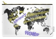 World Map Cool Carry-all Pouch