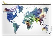 World Map Cosmos Carry-all Pouch