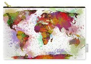 World Map Digital Watercolor Painting Carry-all Pouch