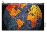 World Map - Elegance Of The Sun Baseball Square Carry-all Pouch by Andee Design
