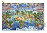 World Map Of World Wonders Carry-all Pouch