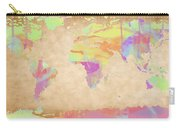 World Map Pastel Watercolors Carry-all Pouch