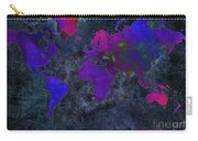World Map - Purple Flip The Dark Night - Abstract - Digital Painting 2 Carry-all Pouch by Andee Design