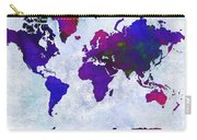 World Map - Purple Flip The Light Of Day - Abstract - Digital Painting 2 Carry-all Pouch by Andee Design