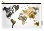 World Map Sandy World Carry-all Pouch