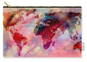 World Map Splash Of Color Carry-all Pouch