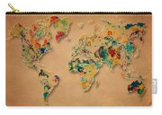World Map Watercolor Painting 2 Carry-all Pouch