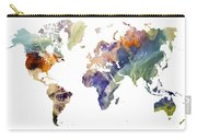 World Map Watercolor Painting Carry-all Pouch