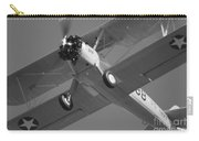 Stearman Trainer Bi Plane Black And White Carry-all Pouch