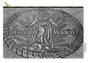 World War II Medallion Bw Carry-all Pouch