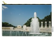 World War II Monument With Lincoln Monument Carry-all Pouch