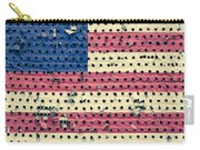 Worn Out American Flag Carry-all Pouch