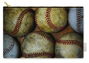 Worn Out Baseballs Carry-all Pouch