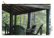 Worn Wicker Chairs On Old Veranda Carry-all Pouch