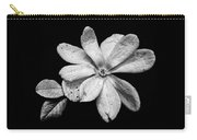 Wounded White Magnolia Wide Version Black And White Carry-all Pouch