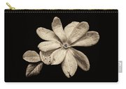 Wounded White Magnolia Wide Version Sepia Carry-all Pouch