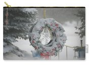 Wreath In A Snow Storm Carry-all Pouch