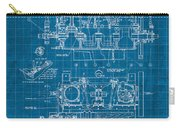 Wright Brothers Aero Engine Vintage Patent Blueprint Carry-all Pouch