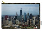 Wrigley And Us Cellular Fields Chicago Baseball Parks 3 Panel Composite 01 Carry-all Pouch by Thomas Woolworth