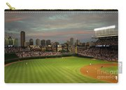 Wrigley Field At Dusk Carry-all Pouch by John Gaffen