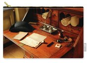 Writer - The Desk Of A Gentleman  Carry-all Pouch by Mike Savad