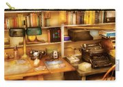 Writer - The Desk Of A Writer  Carry-all Pouch by Mike Savad