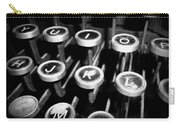 Writing The Great Novel - Black And White Carry-all Pouch