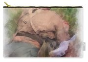 Ww II Us Army Soldier Photo Art Carry-all Pouch