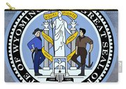 Wyoming State Seal Carry-all Pouch