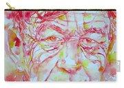 Wystan Auden  Watercolor Portrait Carry-all Pouch