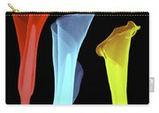 X-ray Of Three Lilies Carry-all Pouch by Bert Myers