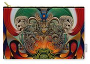 Xiuhcoatl The Fire Serpent Carry-all Pouch by Ricardo Chavez-Mendez