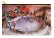 Xmas Skating Rink Photo Art Carry-all Pouch
